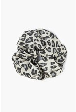 Chan Luu Chan Luu Pearl Blue Leopard Print Scrunchie