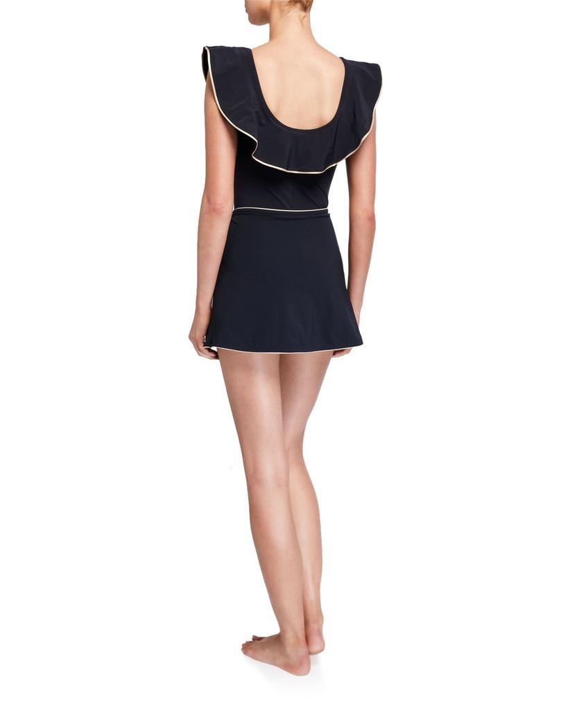 Karla Colletto Karla Colletto Carmelle A-line skirt trim