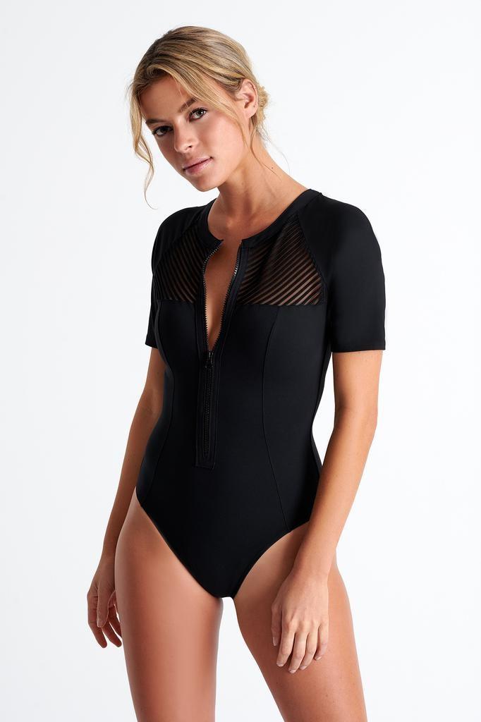 Shan Shan Swimwear Morioka Short Sleeve One PC
