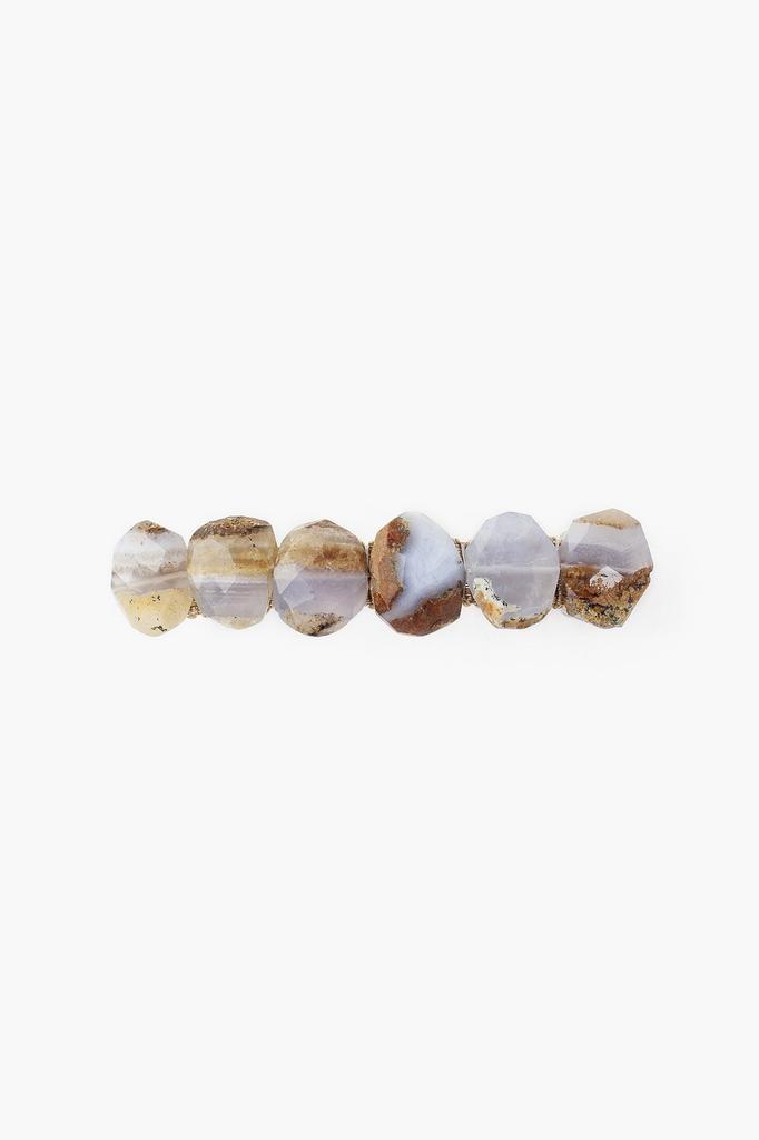 Chan Luu Chan Luu semi precious stones blue calcedony hair clip