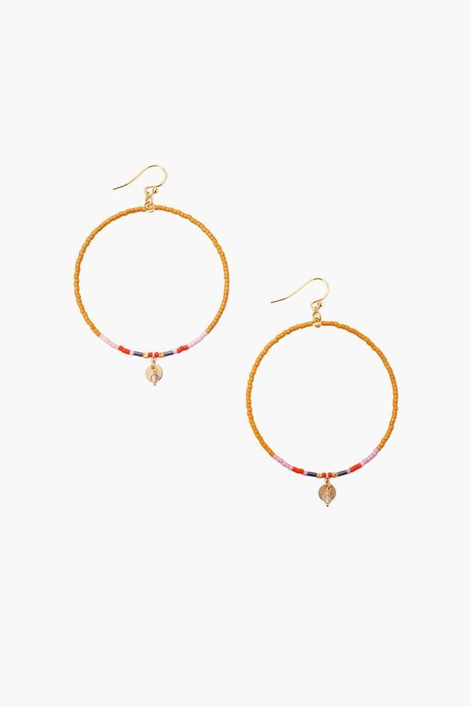 Chan Luu Chan Luu semi precious stones hoop earrings pumpkin