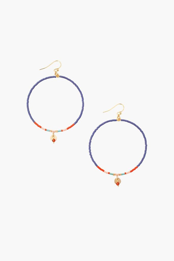 Chan Luu Chan Luu semi precious stones hoop earrings Blue Mix