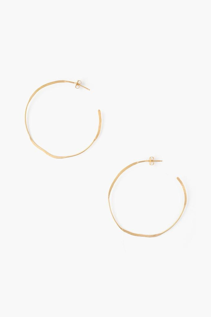 Chan Luu Chan Luu 18K Gold Plated over sterling silver large hoops