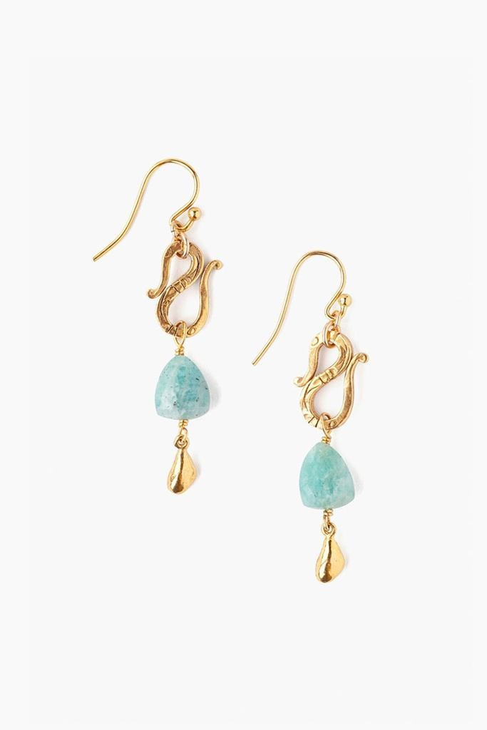 Chan Luu Chan Luu 18K Gold Plated over sterling silver snake drops with amazonite