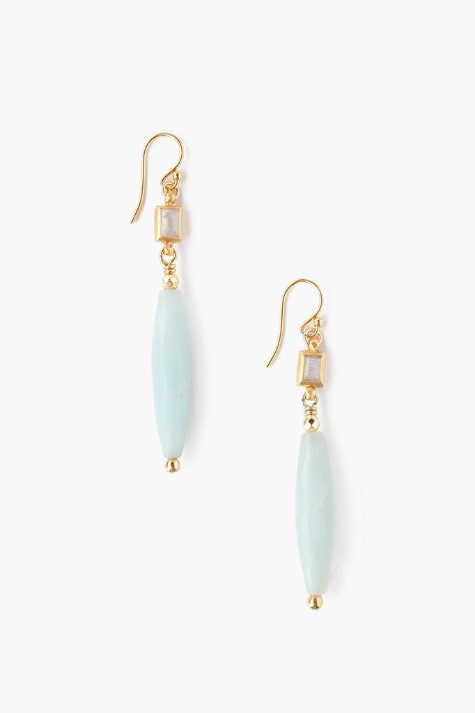 Chan Luu Chan Luu 18K Gold Plated over sterling silver amazonite mix drop earings