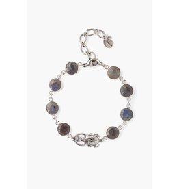 Chan Luu Chan Luu sterling silver scarab bracelet with labradorite