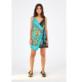 Farm Farm Rio Mixed Banana Mini Wrap Dress