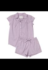 Cat's Pajamas Cat's Pajamas Lavender Check Luxe Pima Short Set