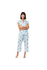 Cat's Pajamas Cat's Pajamas Queen Bee Luxe Pima Capri