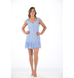 Walker & Wade Walker & Wade Periwinkle Palm Jessie Dress