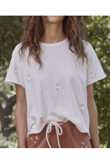 The Great The Great Crop Tee With Daisy Bouquet Embroidery
