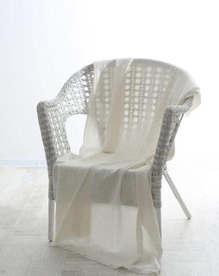Vikolino Vikolino 100% European Washed Waffle Linen Thrown Ivory