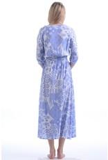 Walker & Wade Walker & Wade Kelsey Long Dress, Ikat Periwinkle