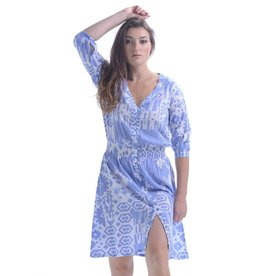 Walker & Wade Kelsey Short Dress Periwinkle Ikat
