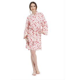 Mahogany Mahogany 100% Cotton Short Robe, Watermelon Print