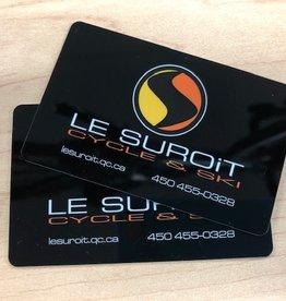 LE SUROÎT CYCLE ET SKI Carte-Cadeau Le Suroît cycle et ski