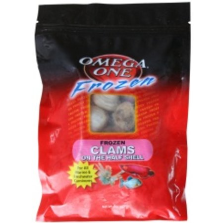 OMEGA ONE FROZEN CLAMS ON HALF SHELL 8OZ FLAT PACK