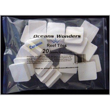 Ocean Wonders Ceramic Frag Tiles ( 20ct )