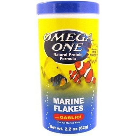 Omega One Marine Flakes W/Garlic 2.2oz