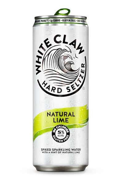White Claw Natural Lime Spiked Sparkling ABV 5% 6 Pack Can