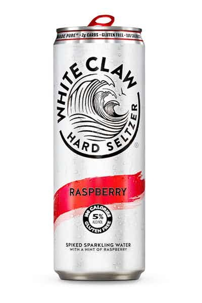 White Claw Raspberry Spiked Sparkling ABV 5% 6 Pack Can