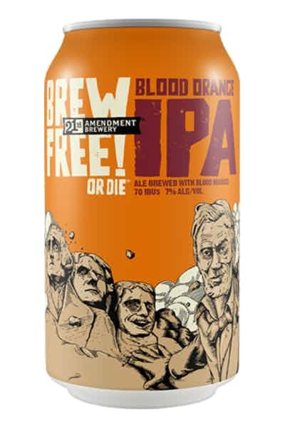 21st Amendment Brewery Brew Free Blood Orange IPA 6 pack ABV: 7%