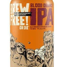 21st Amendment Brewery Brew Free Blood Orange IPA 6 pack ABV: 7%