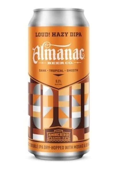 Almanac Beer Co. Hazy Double IPA ABV 8% 16 Fl OZ 4 Pack