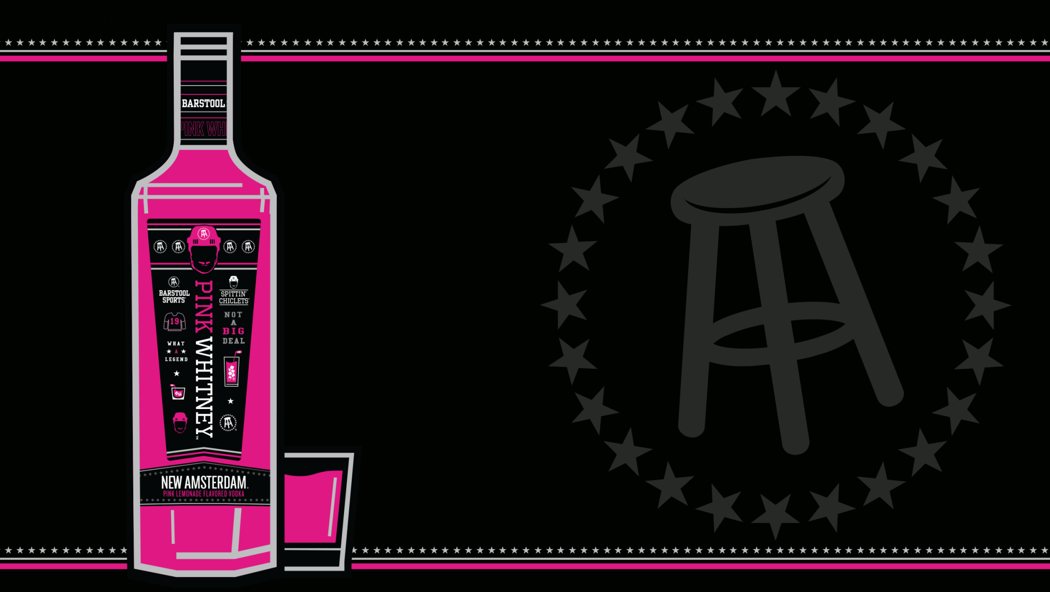 New Amsterdam Pink Whitney Vodka ABV 30% 750ml