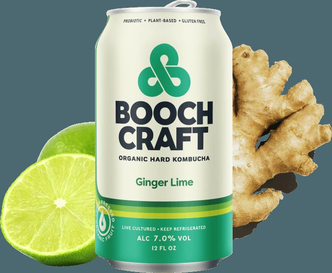 Booch Craft High Alcohol Ginger Lime Kombucha ABV 7% 22 OZ