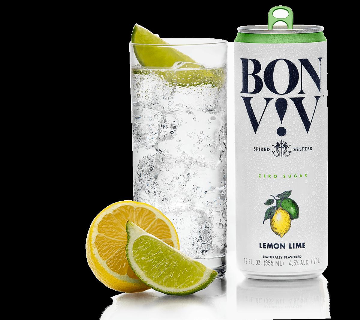 Bon & Viv Spiked Seltzer Lemon Lime ABV 4.5% 6 Pack