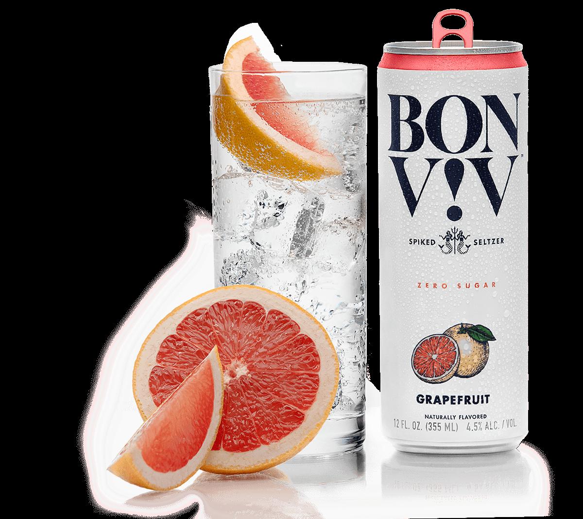 Bon & Viv Spiked Seltzer Grapegruit ABV 4.5% 6 Pack