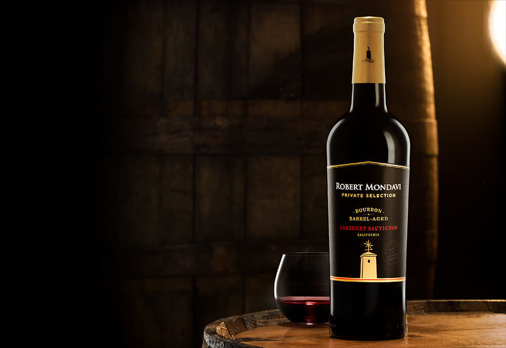 Robert Mondavi Private Selection Bourbon Barrel Aged 2018 Cabernet Sauvignon  ABV 14.5% 750 ML