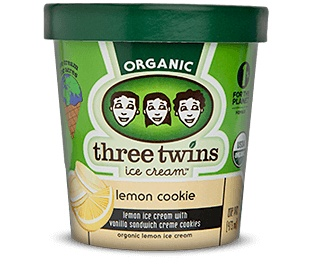 Three Twins Organic Lemon Cookie Ice Cream 1 Pt
