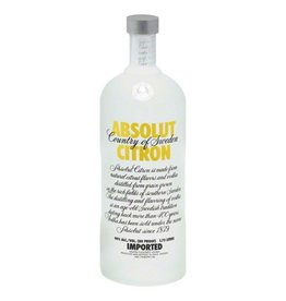 Absolut Citron Vodka ABV: 40%  750 mL