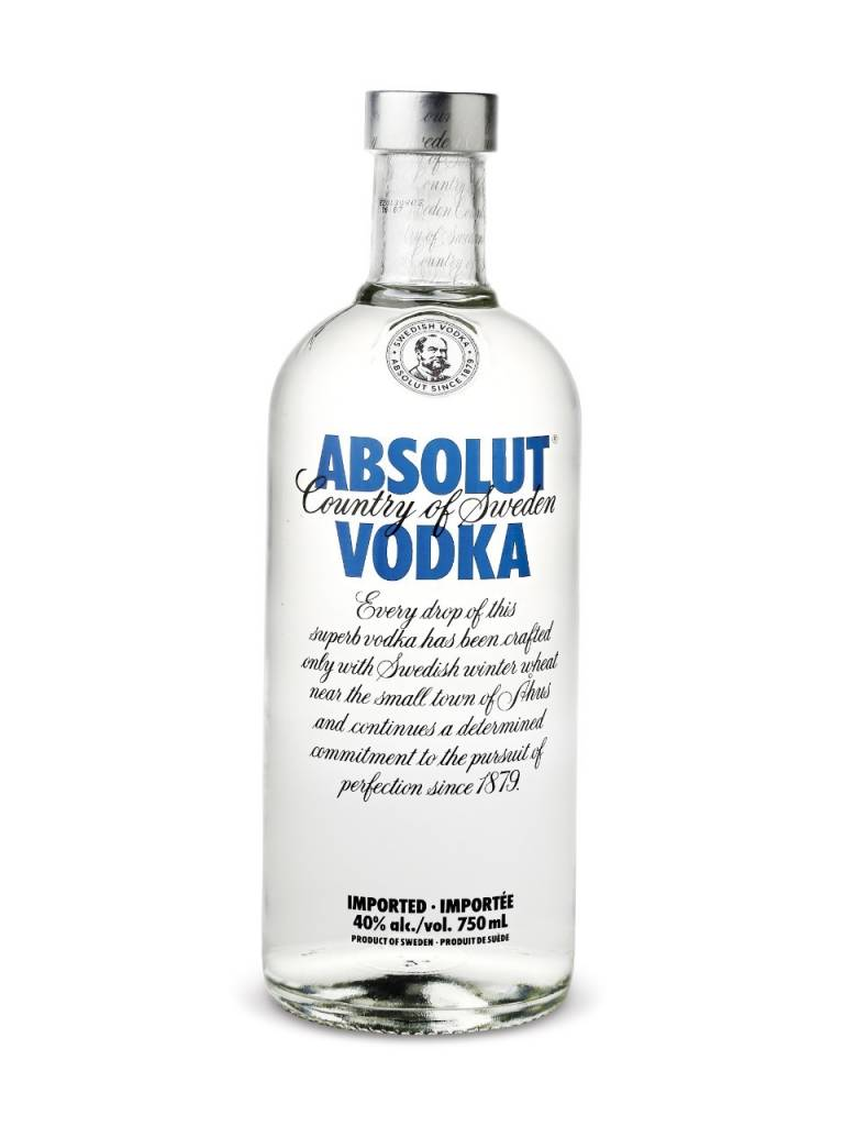 Absolut Vodka  ABV: 40%  375 mL