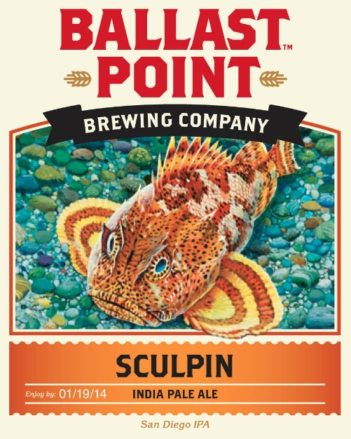 Ballast Point Brewing Co. Sculpin IPA ABV: 7%  22 oz