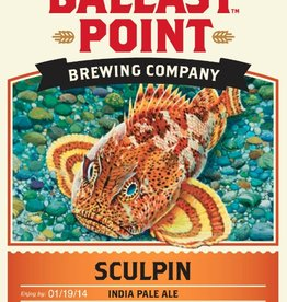Ballast Point Brewing Co. Sculpin IPA ABV: 7%  6 Pack Bottle