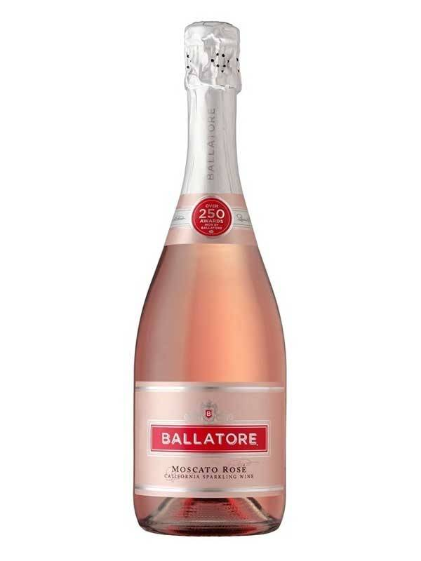 Ballatore Moscato Rose Sparkling Wine ABV: 8%  750ml