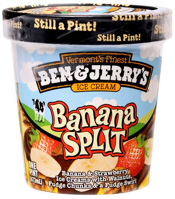 Ben & Jerry's Banana Split Ice Cream 1 Pt