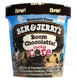 Ben & Jerry's Boom Chocolatta! Cookie Core Ice Cream 1 Pt