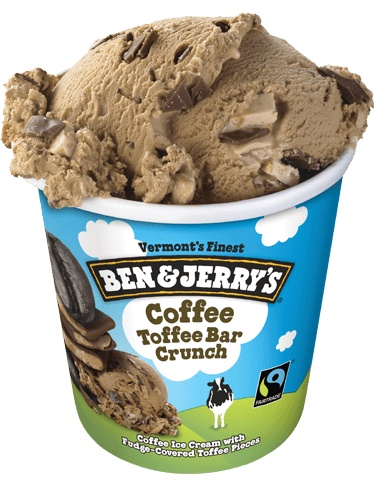 Ben & Jerry's Coffee Toffee Bar Crunch Ice Cream 1 Pt