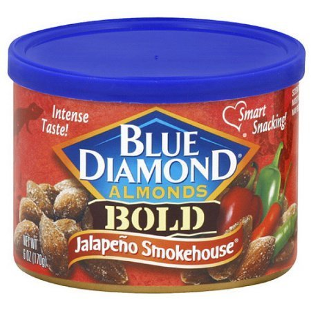 Blue Diamonds Almonds Can Jalapeno Smokehouse 6oz