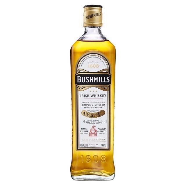 Bushmill Irish Whiskey Proof: 80  750ml