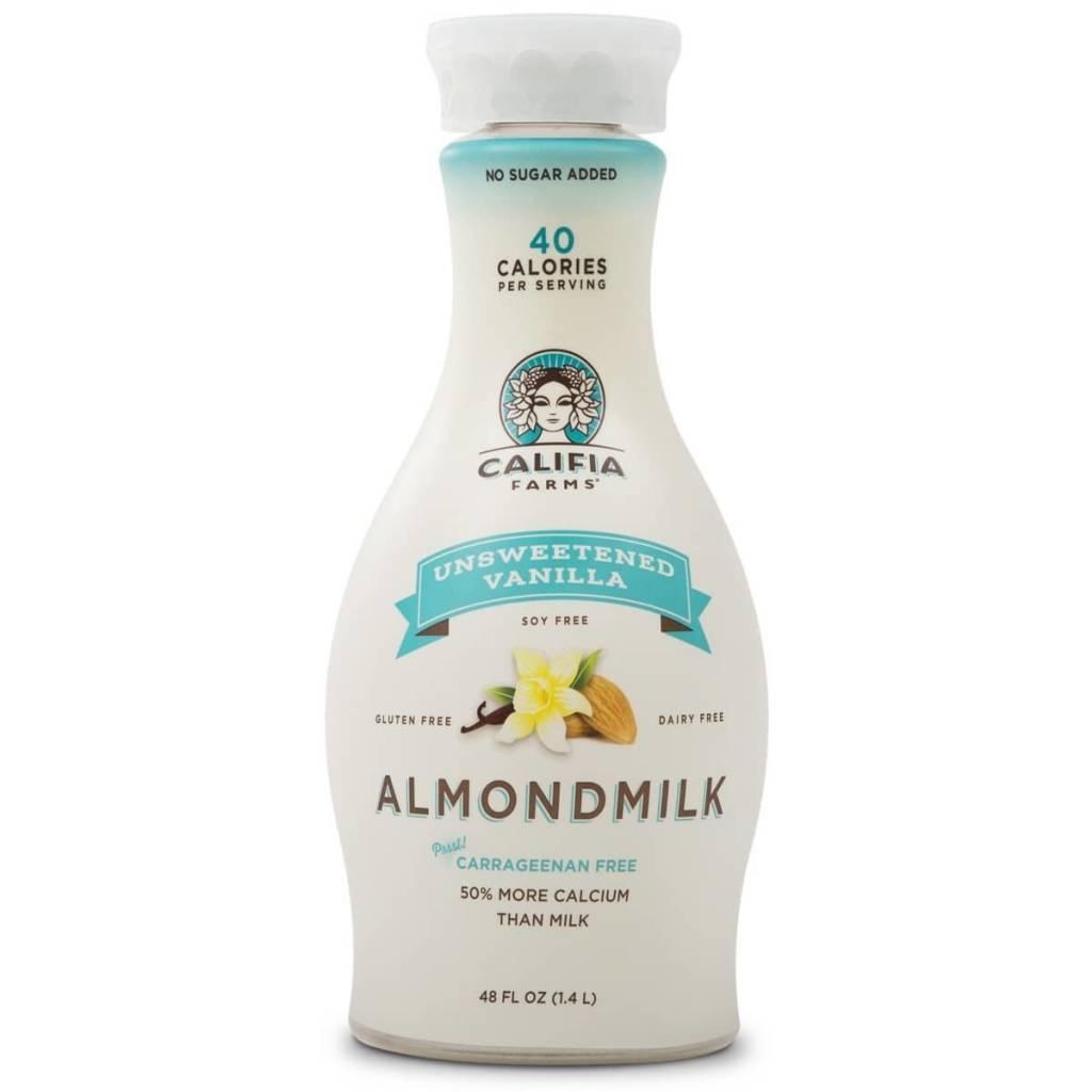 Califia Farms Dairy & Gluten Free Unsweetened Vanilla Almond Milk 48 OZ