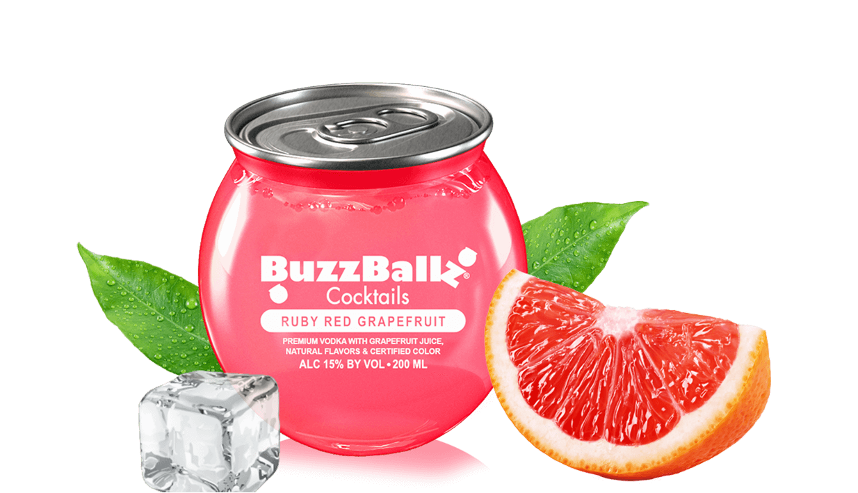 BuzzBallz Cocktails Ruby Red Grapefruit ABV 15% 200 ML
