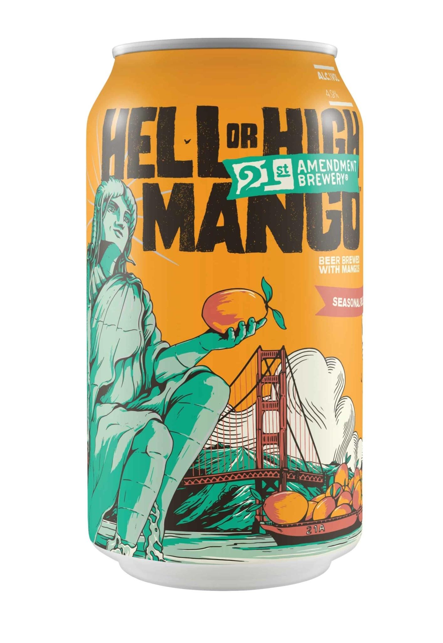 21st Amendment Hell or High Mango ABV 4.9% 6 packs