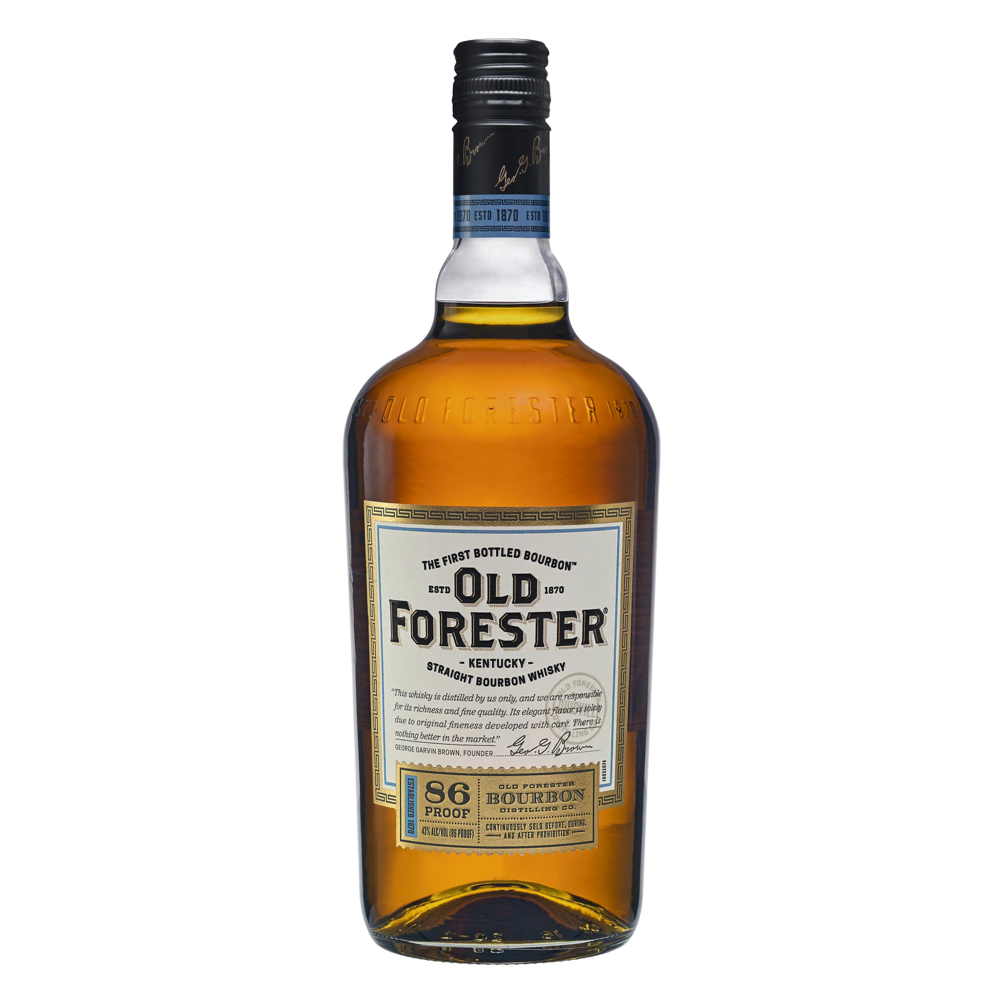 Old Forester Straight Bourbon Whiskey ABV 43% 750 ML