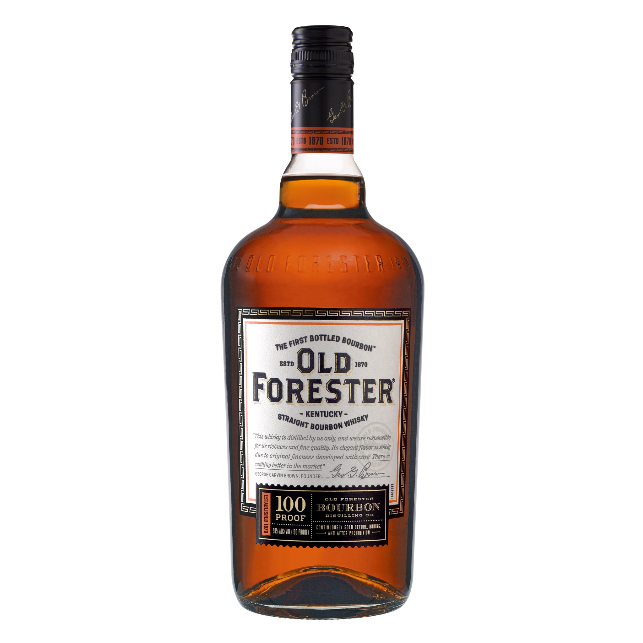 Old Forester Straight Bourbon Whiskey ABV 50% 750 ML