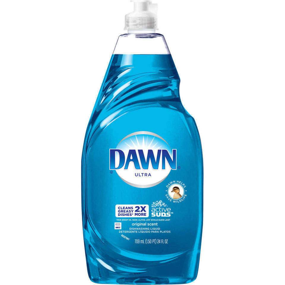 Dawn Ultra 50% Less Scrubbing 3X More Power Dish Soap 7 OZ